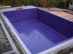 Schwimmbad Fliesenverlegung